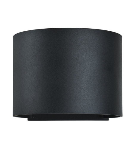 Access 20399LEDMGRND-BL Curve LED 4 inch Black Outdoor Wall Sconce photo