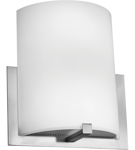 Access Lighting Cobalt 2 Light Wall Sconce in Brushed Steel with Opal Glass C20445BSOPLEN1218BS photo