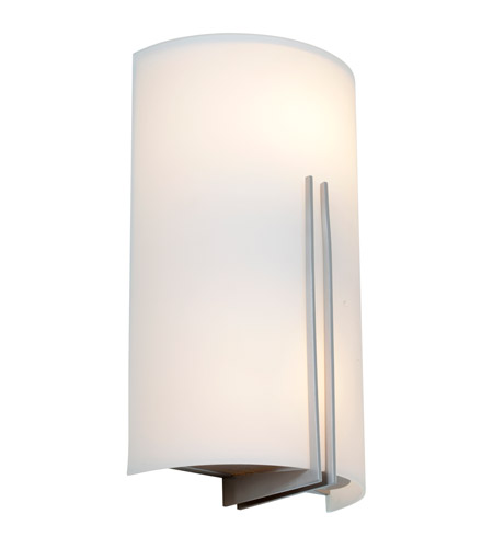 Access 20446-BS/WHT Prong 2 Light 7 inch Brushed Steel ADA Sconce Wall Light in 2700K, Incandescent photo