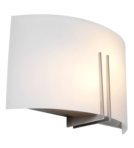 Access Lighting Prong 1 Light Wall Sconce in Brushed Steel 20447LED-BS/WHT photo