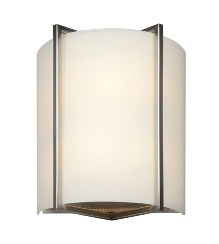 Access 20451-BS/OPL Vector 2 Light 9 inch Brushed Steel ADA Wall Sconce Wall Light in 2700K, Incandescent photo