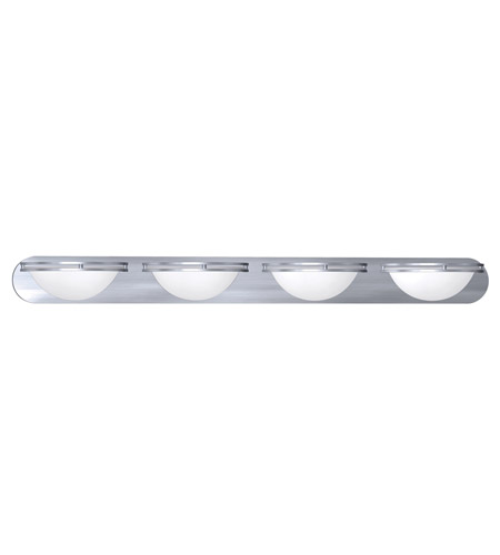 Access 20454GU-BS/WHT Aztec 4 Light 48 inch Brushed Steel Wall & Vanity Wall Light photo
