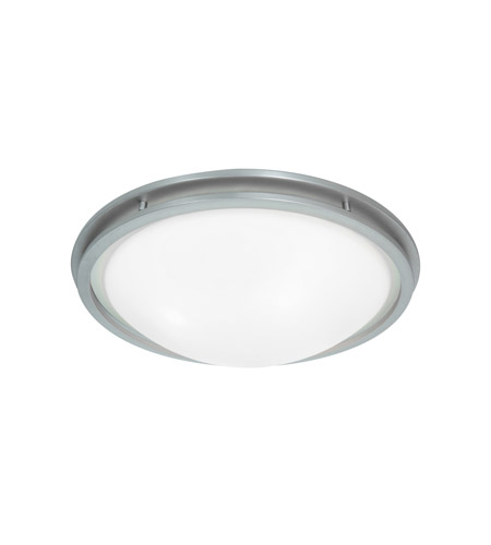 Access Lighting Aztec 1 Light Flush Mount in Brushed Steel 20456LED-BS/WHT photo