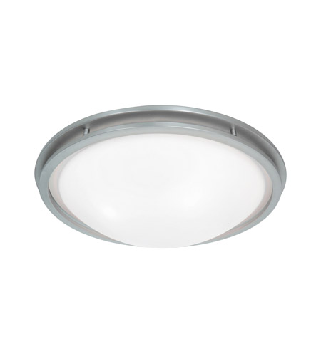 Access Lighting Aztec 1 Light Flush Mount in Brushed Steel 20457LED-BS/WHT photo