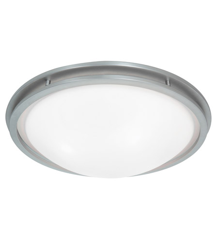Access Lighting Aztec 4 Light Flushmount in Brushed Steel with WHT Glass 20458GU-BS/WHT photo