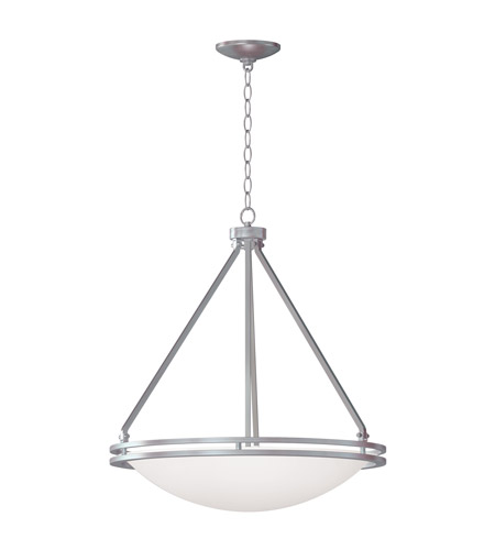 Access 20462GU-BS/WHT Aztec 5 Light 21 inch Brushed Steel Bowl Pendant Ceiling Light photo