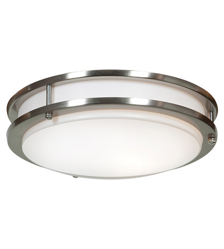 Access 20464LEDD-BS/ACR Solero LED 12 inch Brushed Steel Flush Mount Ceiling Light photo