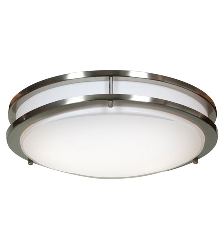 Access 20465GU-BS/ACR Solero 2 Light 14 inch Brushed Steel Flush Mount Ceiling Light photo