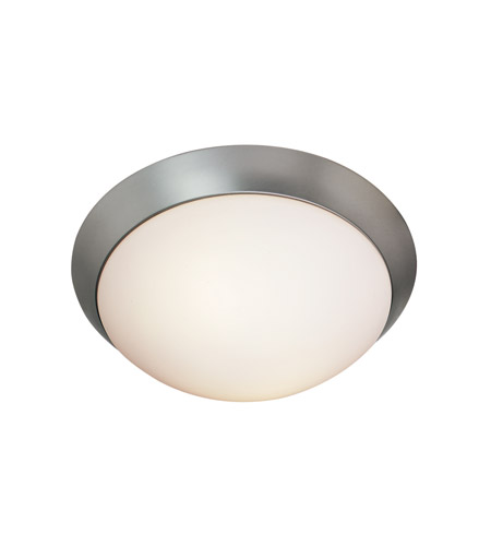 Access Lighting Cobalt 1 Light Flush Mount in Brushed Steel 20624-BS/OPL photo