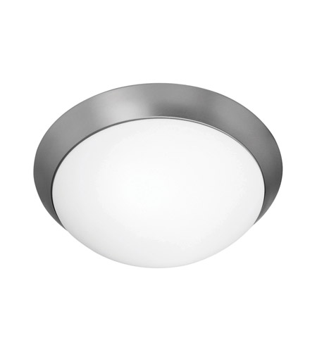 Access Lighting Cobalt 2 Light Flush Mount in Brushed Steel 20625-BS/OPL