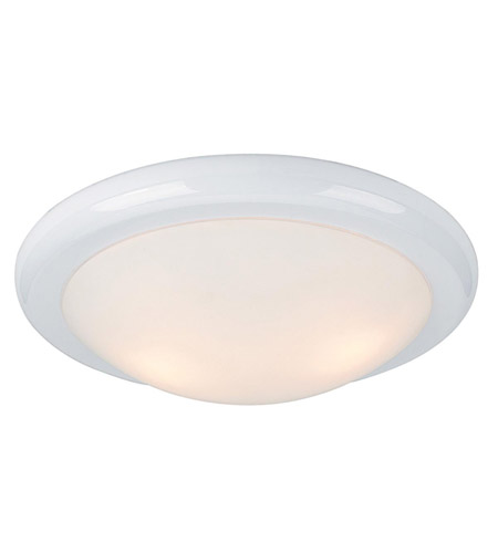Access Lighting Selena 1 Light Flush Mount in White 20630-WH/OPL photo