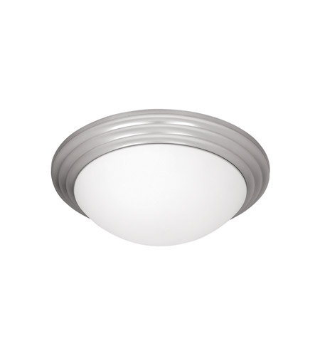 Access 20650-BS/OPL Strata 1 Light 10 inch Brushed Steel Flush Mount Ceiling Light photo