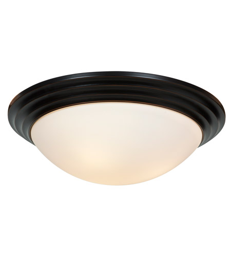 Access 20652-ORB/OPL Strata 3 Light 16 inch Oil Rubbed Bronze Flush Mount Ceiling Light photo