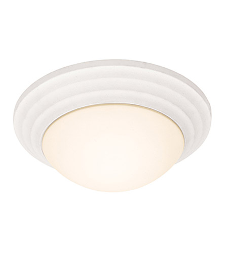 Access Lighting Strata 1 Light Flushmount in White with Opal Glass 20652LEDD-TWH/OPL photo