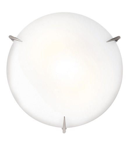Access 20662GU-BS/OPL Zenon 3 Light 16 inch Brushed Steel Flush Mount Ceiling Light in GU24 Fluorescent photo