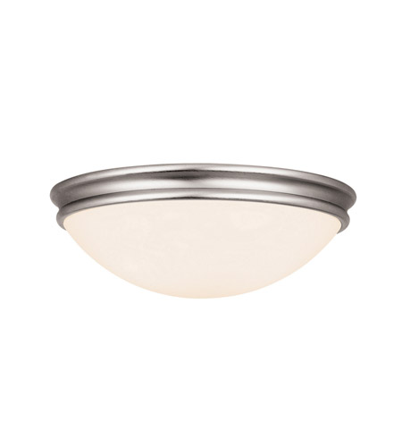 Access 20724-BS/OPL Atom 1 Light 11 inch Brushed Steel Flush Mount Ceiling Light in Incandescent photo