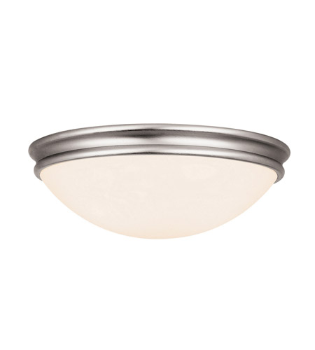 Access 20725-BS/OPL Atom 2 Light 13 inch Brushed Steel Flush Mount Ceiling Light in Incandescent photo