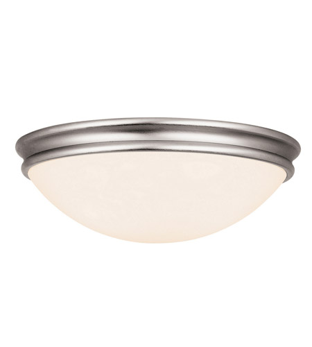 Access 20726LEDD-BS/OPL Atom LED 14 inch Brushed Steel Flushmount Ceiling Light photo