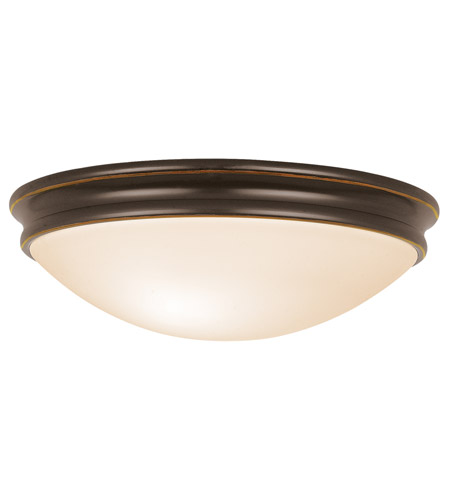 Access 20726-ORB/OPL Atom 3 Light 14 inch Oil Rubbed Bronze Flush Mount Ceiling Light in Incandescent photo