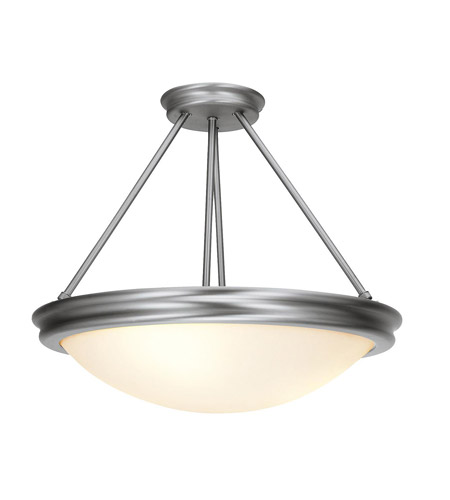 Access Lighting Atom 3 Light Semi-Flush in Brushed Steel 20728-BS/OPL photo