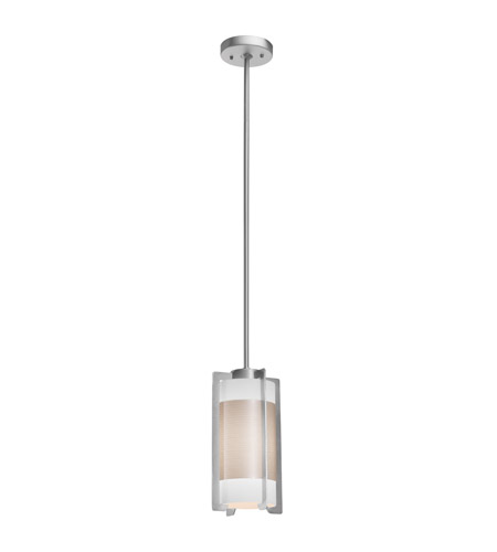 Access 20738-BS/OPL Iron 1 Light 6 inch Brushed Steel Pendant Ceiling Light photo