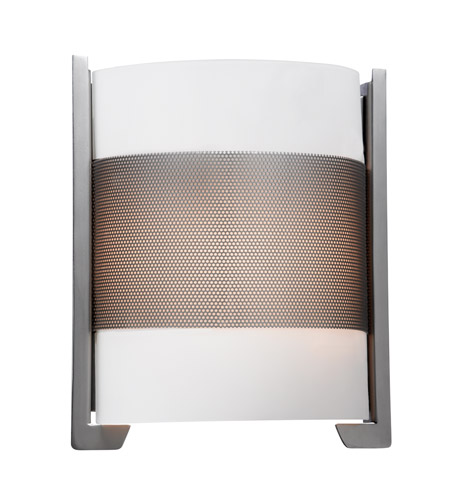 Access 20739-BS/OPL Iron 2 Light 10 inch Brushed Steel ADA Sconce Wall Light in Incandescent photo