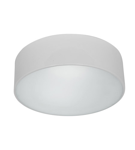 Access Lighting TomTom 2 Light Flushmount in White with Frosted Glass 20746GU-WH/FST photo