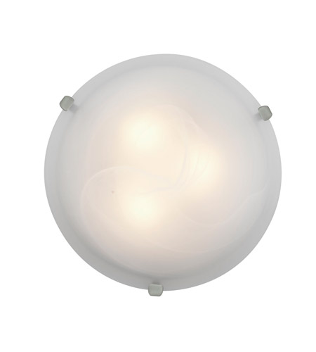 Access 23019GU-BS/ALB Mona 2 Light 12 inch Brushed Steel Flush Mount Ceiling Light in Alabaster, GU24 Fluorescent photo