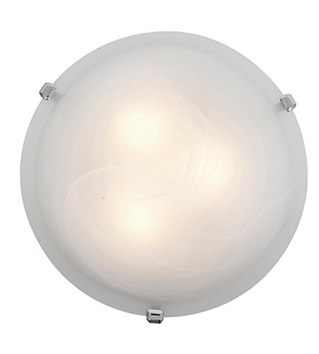 Access 23019-CH/ALB Mona 2 Light 12 inch Chrome Flush Mount Ceiling Light in Alabaster, Incandescent photo