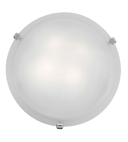 Access 23019-CH/WH Mona 2 Light 12 inch Chrome Flush Mount Ceiling Light in White, Incandescent photo