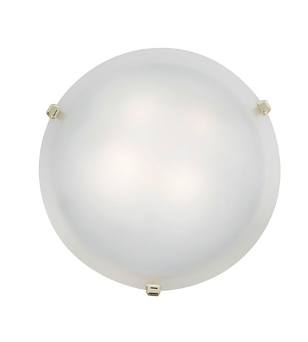 Access Lighting Mona 2 Light Flush-Mount in Polished Brass with White Glass 23019GU-PB/WH photo
