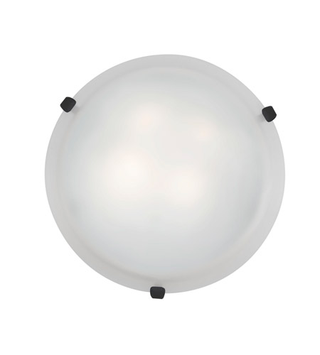 Access Lighting Mona 2 Light Flush-Mount in Rust with White Glass 23019-RU/WH photo