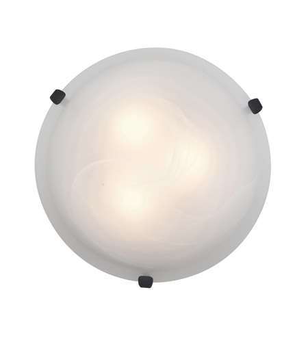 Access Lighting Mona 1 Light Flush Mount in Rust 23019LED-RU/ALB photo