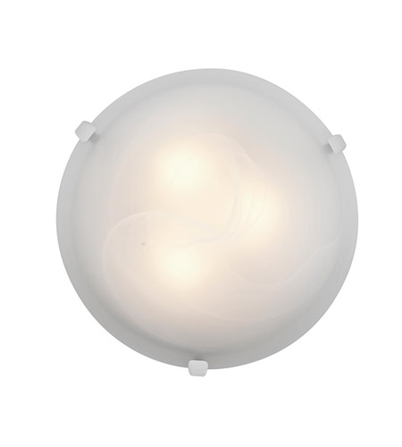 Access 23019GU-WH/ALB Mona 2 Light 12 inch White Flush Mount Ceiling Light in Alabaster photo