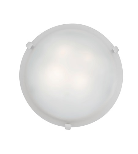 Access 23019-WH/WH Mona 2 Light 12 inch White Flush Mount Ceiling Light in Incandescent photo