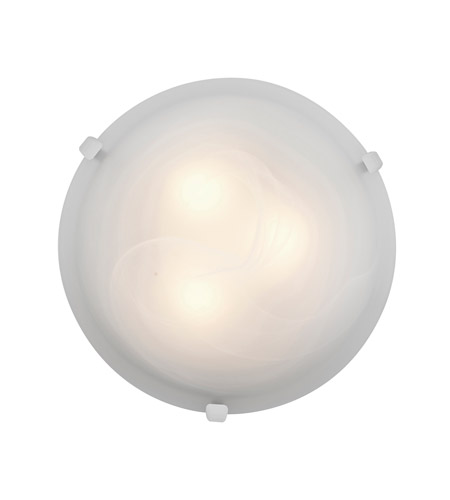 Access Lighting Mona 1 Light Flush Mount in White 23019LED-WH/ALB photo