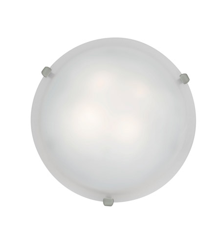 Access Lighting Mona 2 Light Flush-Mount in Brushed Steel with White Glass 23020GU-BS/WH photo