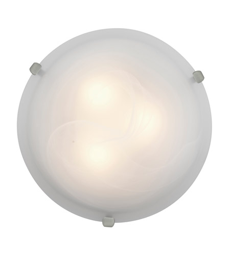 Access Lighting Mona 1 Light Flush Mount in Brushed Steel 23020LED-BS/ALB photo