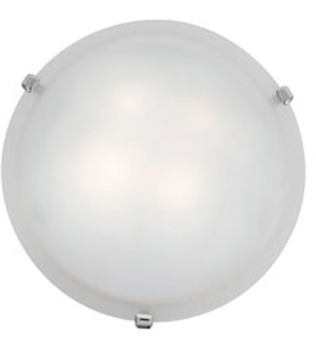 Access C23020CHWHEN1226BS Mona 2 Light 16 inch Chrome Flush Mount Ceiling Light in White photo