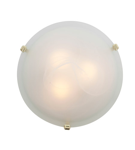 Access Lighting Mona 2 Light Flush-Mount in Polished Brass with Alabaster Glass 23020GU-PB/ALB photo