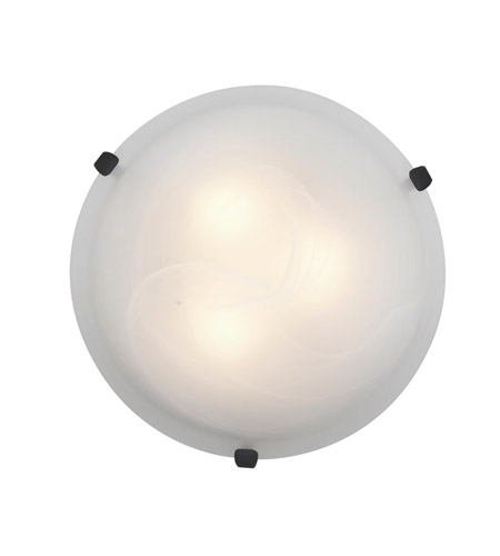 Access 23020-RU/ALB Mona 3 Light 16 inch Rust Flush Mount Ceiling Light in Alabaster, Incandescent photo