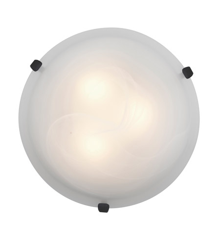 Access Lighting Mona 1 Light Flush Mount in Rust 23020LED-RU/ALB photo