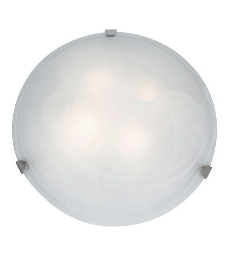 Access C23021BSALBEN1226BS Mona 2 Light 20 inch Brushed Steel Flush Mount Ceiling Light in Alabaster photo