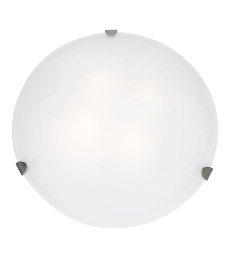 Access C23021BSWHEN1226BS Mona 2 Light 20 inch Brushed Steel Flush Mount Ceiling Light in White photo