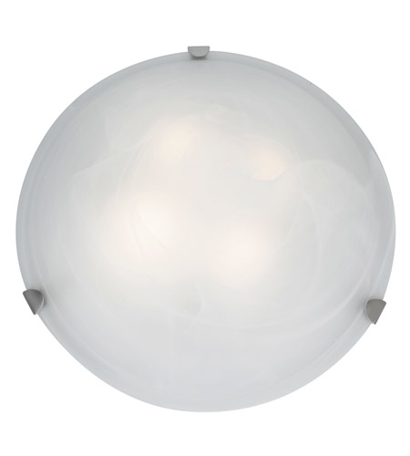 Access 23021LEDD-BS/WH Mona LED 20 inch Brushed Steel Flush Mount Ceiling Light in White photo