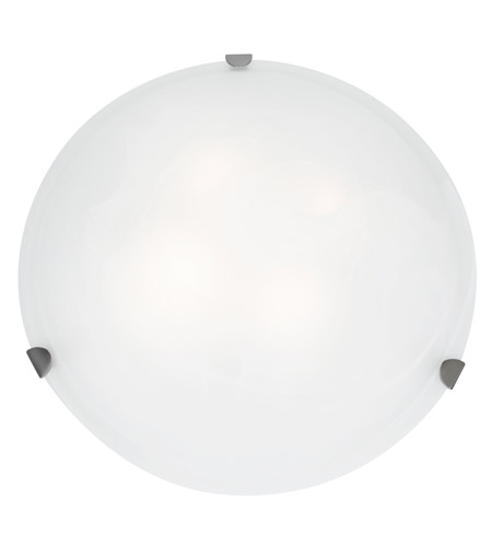 Access Lighting Mona 1 Light Flush Mount in Brushed Steel 23021LED-BS/WH photo