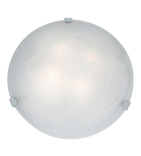 Access 23021-CH/ALB Mona 4 Light 20 inch Chrome Flush Mount Ceiling Light in Alabaster, Incandescent photo
