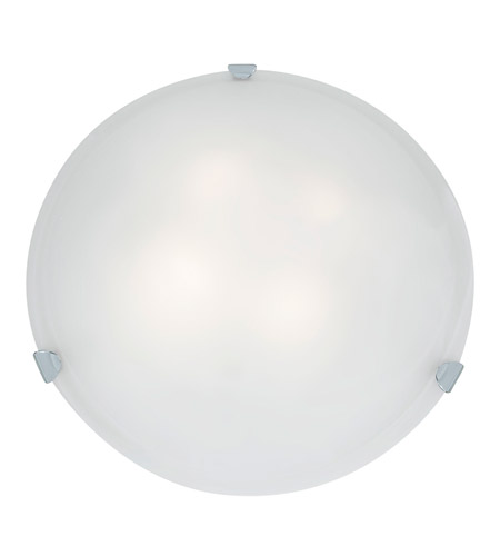 Access C23021CHWHEN1226BS Mona 2 Light 20 inch Chrome Flush Mount Ceiling Light in White photo