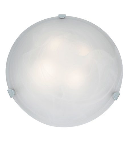 Access 23021LEDD-CH/ALB Mona LED 20 inch Chrome Flush Mount Ceiling Light in Alabaster photo