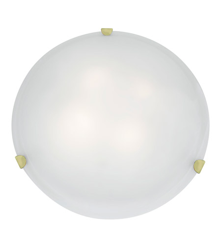 Access Lighting Mona 4 Light Flush-Mount in Polished Brass with White Glass 23021-PB/WH photo